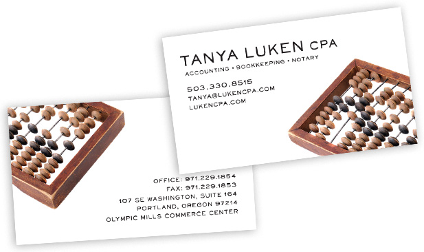 Luken CPA Business Cards