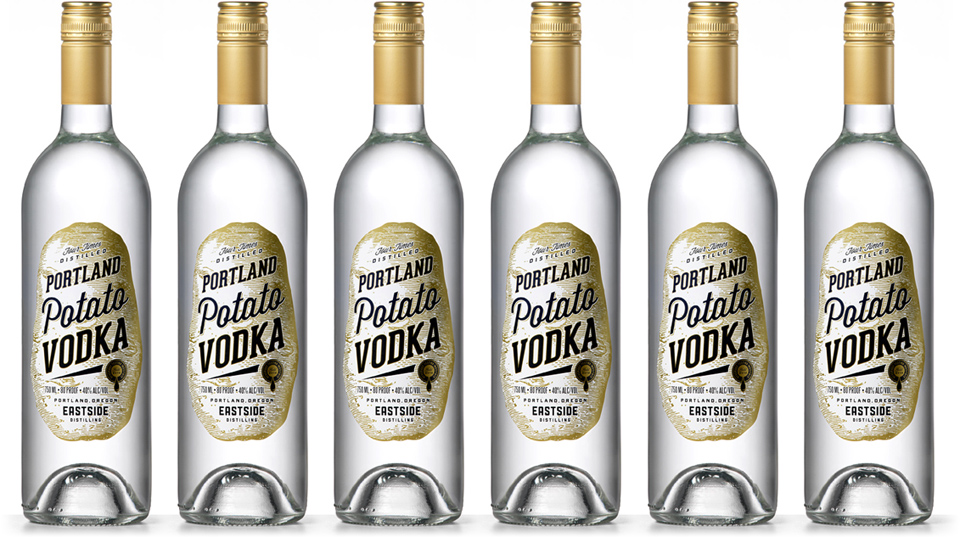 Portland Potato Vodka Labels