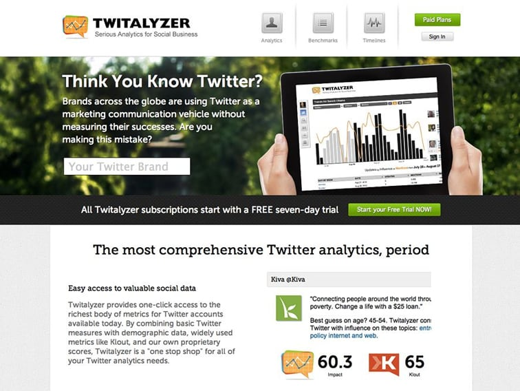 Twitalyzer Wordpress Website