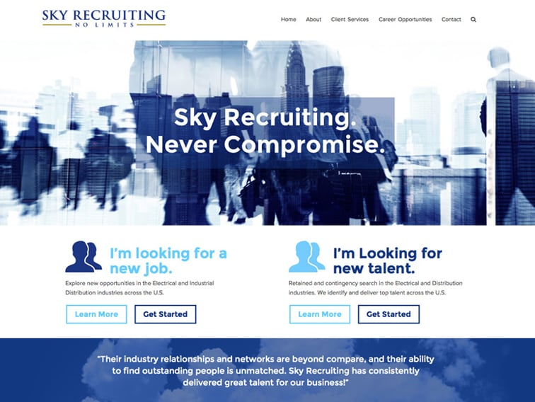 Sky Recruiting Wordpress Website
