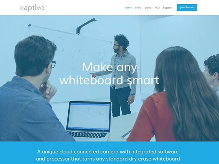 Kaptivo Wordpress Website