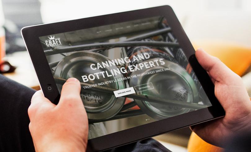 Craft Canning + Bottling Handcrafted Website
