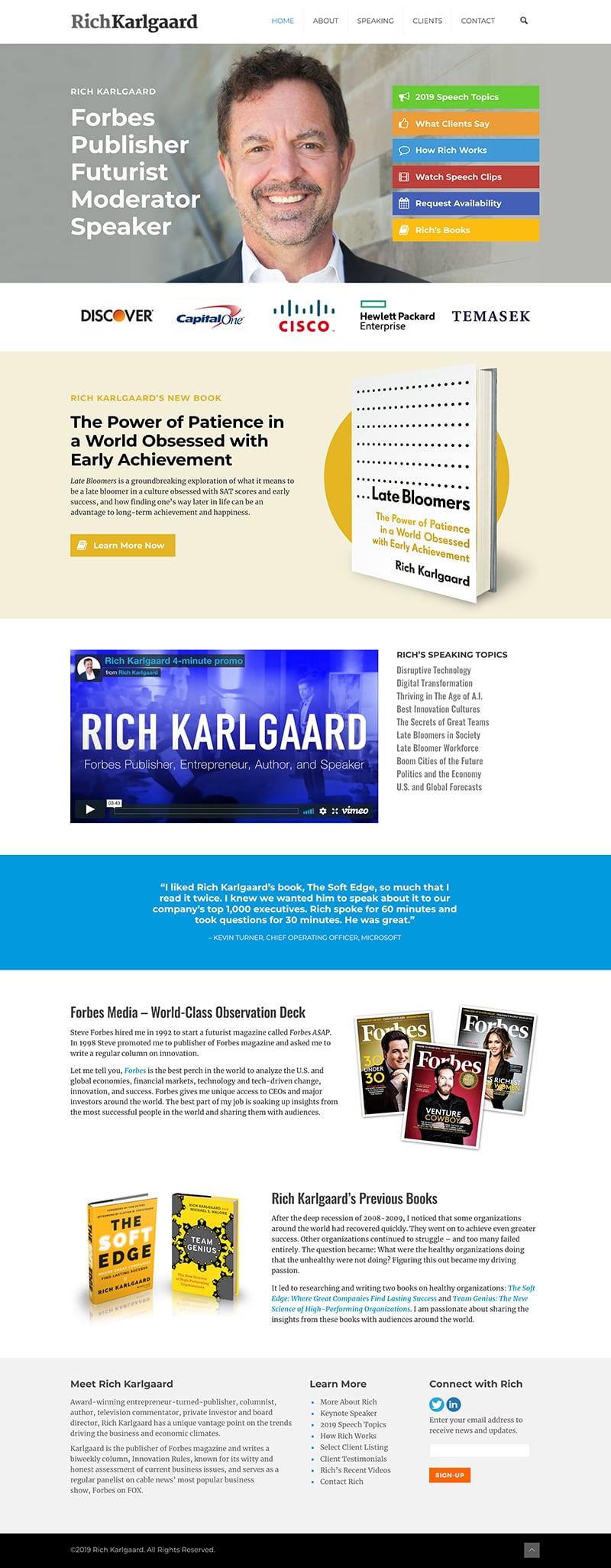 Rich Karlgaard Wordpress Website