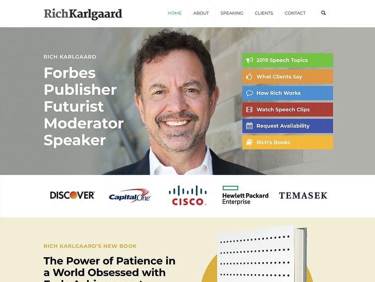 Rich Karlgaard Wordpress Website