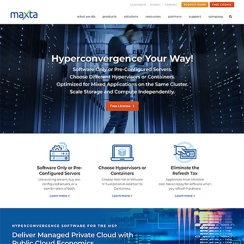 Maxta Website