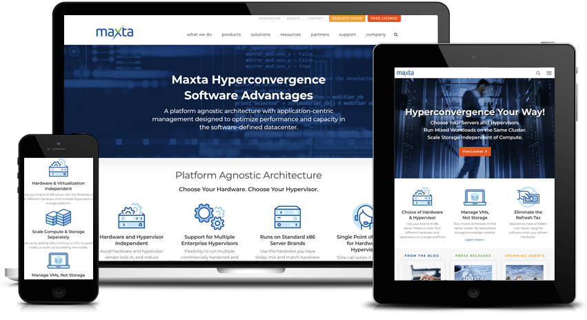 Maxta Wordpress Website