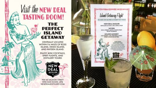 New Deal Vintage Retro Tiki Ad and Menu