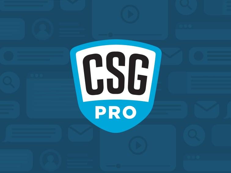CSG Pro Logo and Website Design