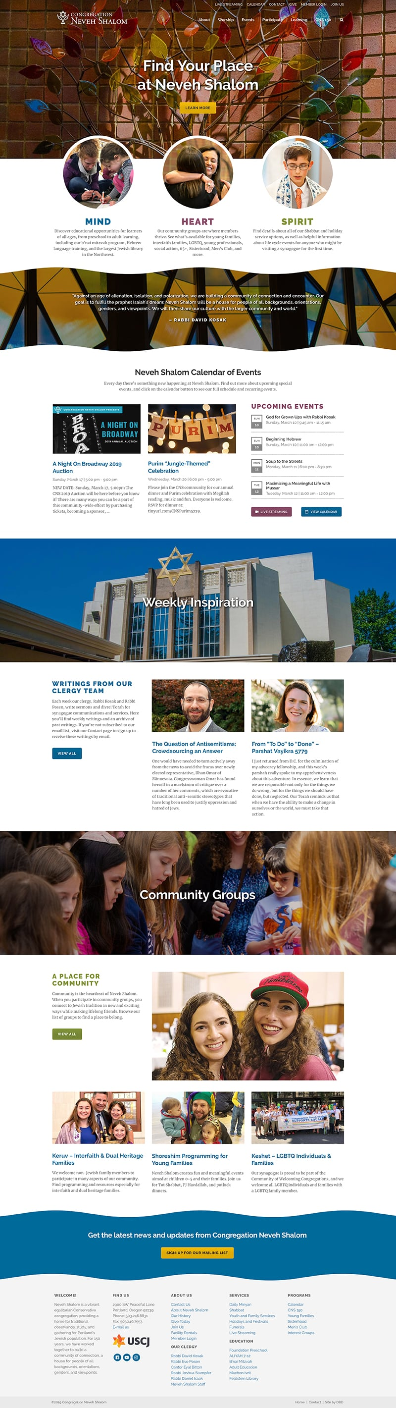 Congregation Neveh Shalom Website