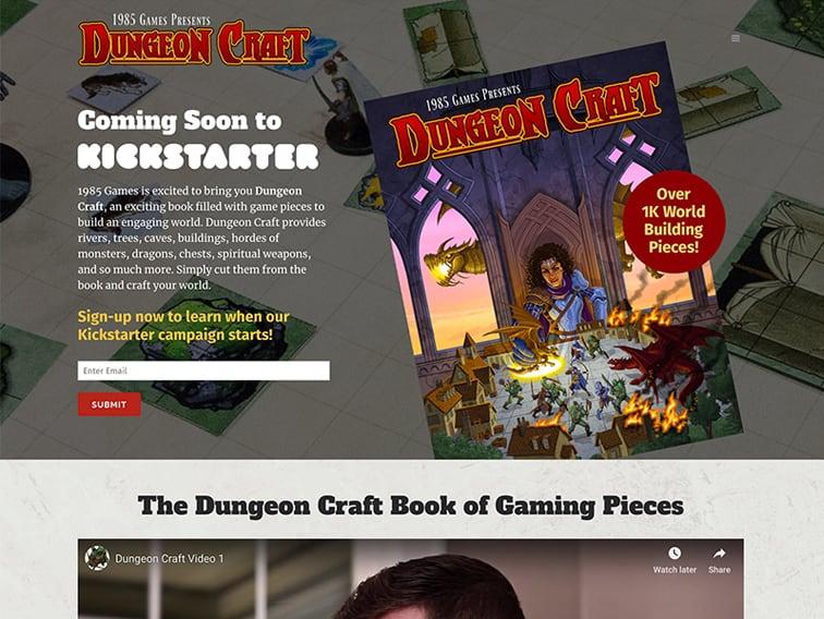 Dungeon Craft Book Wordpress Website