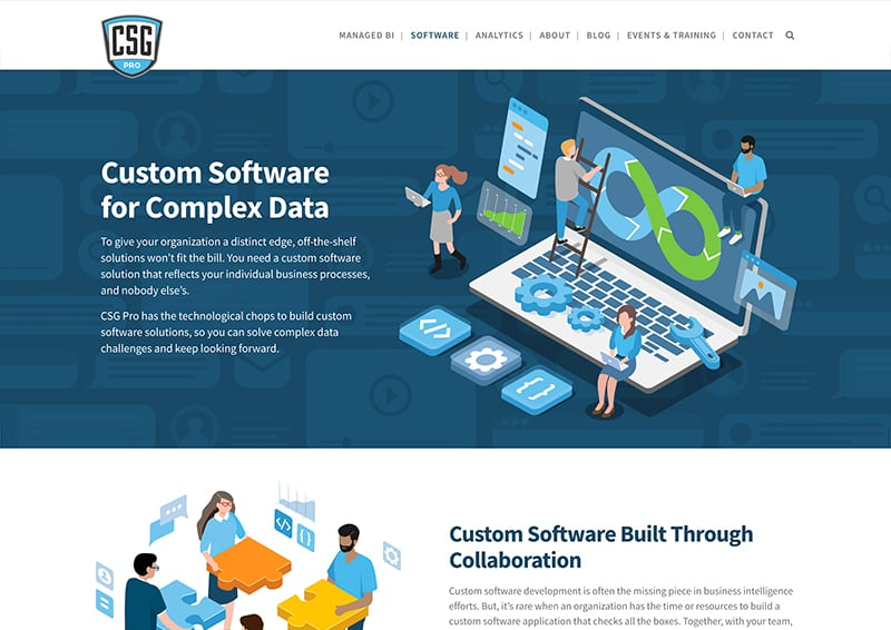 CSG Pro Landing Page Design Software