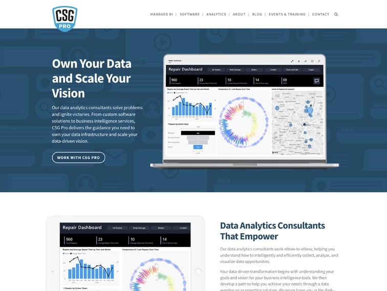 CSG Pro Wordpress Page Design