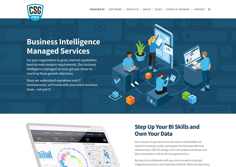 CSG Pro Landing Page Analytics