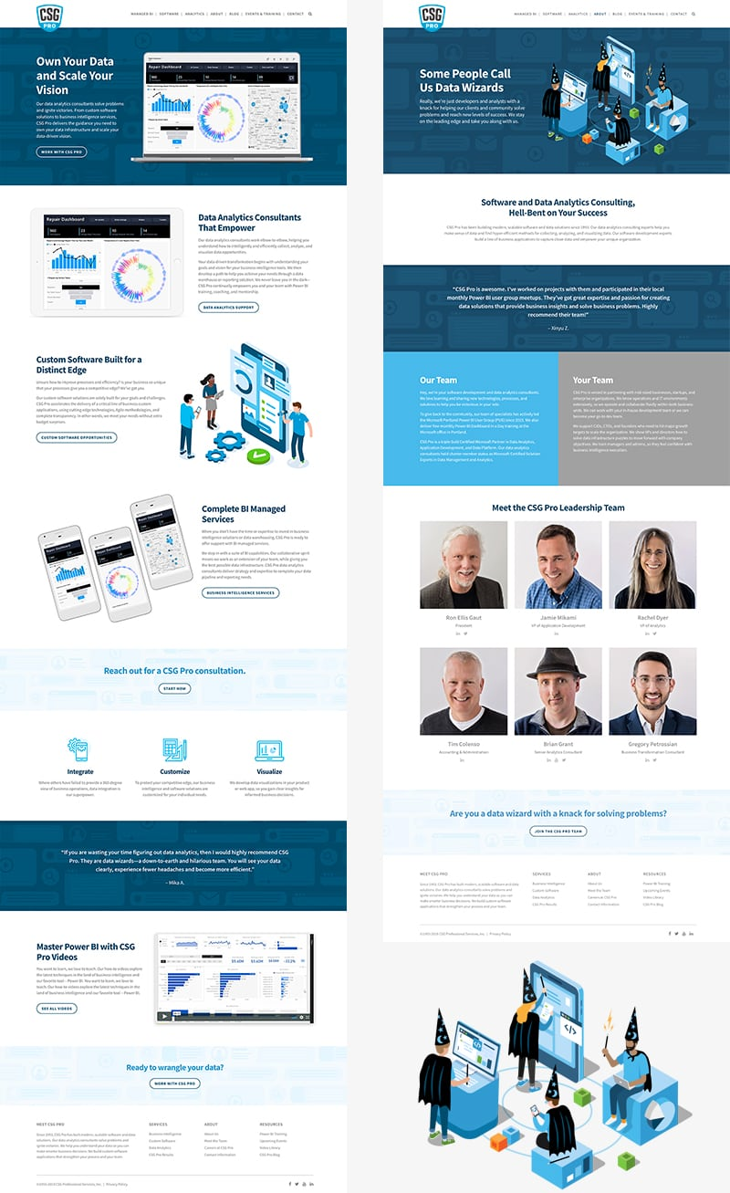 CSG Pro Wordpress Website