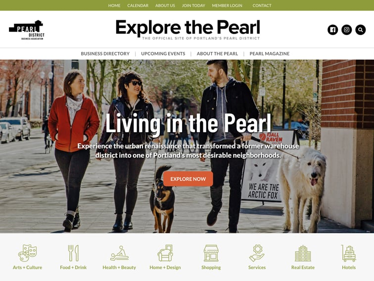 Explore the Pearl Wordpress Website