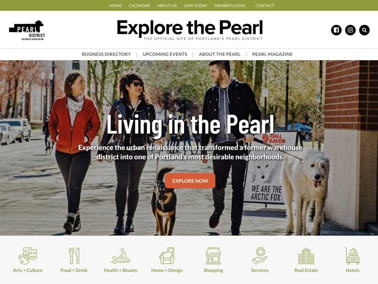 Explore the Pearl Wordpress Website