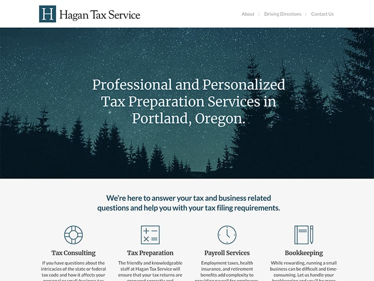 Hagan Tax Service Website