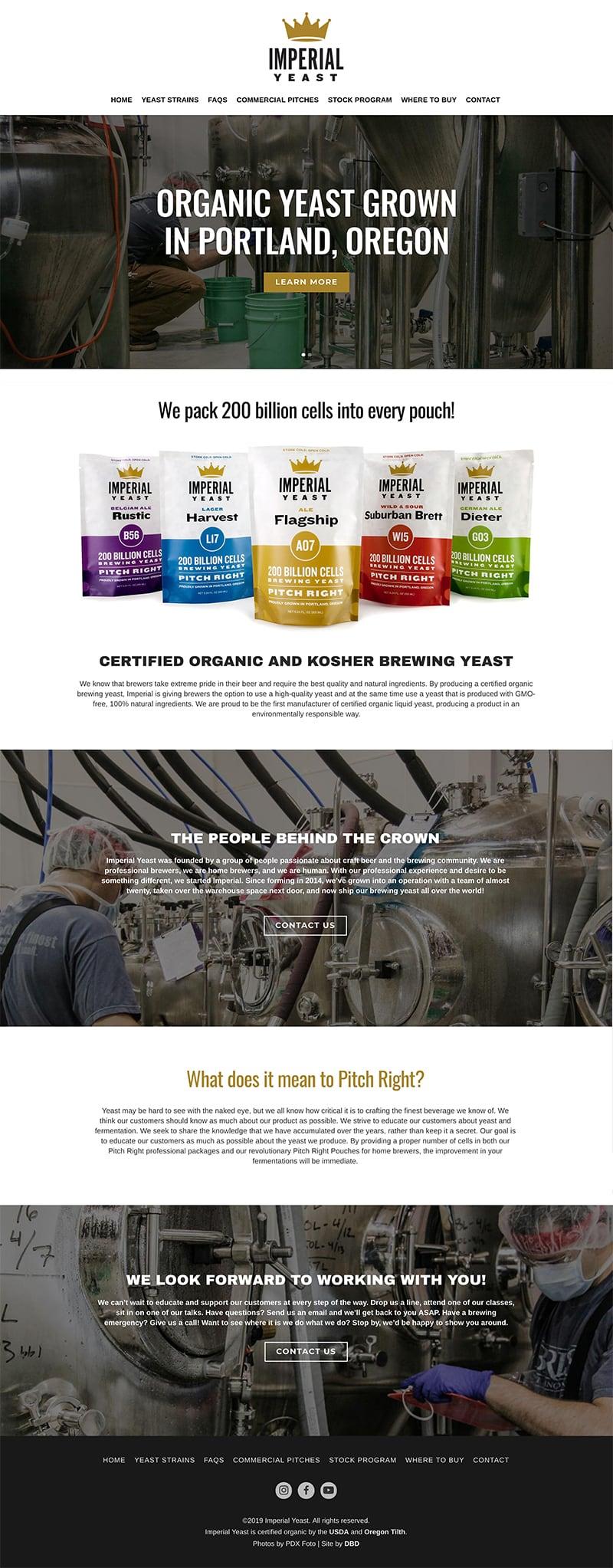 Imperial Yeast Website
