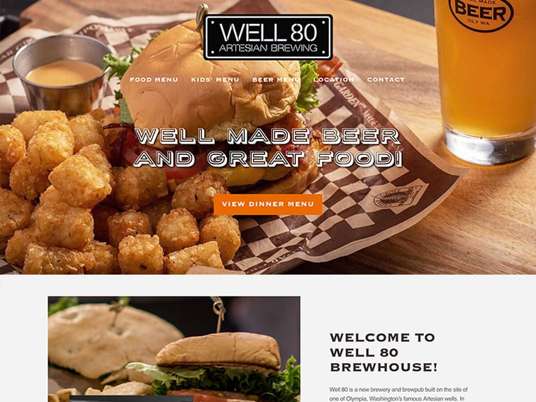 Well 80 Wordpress Website