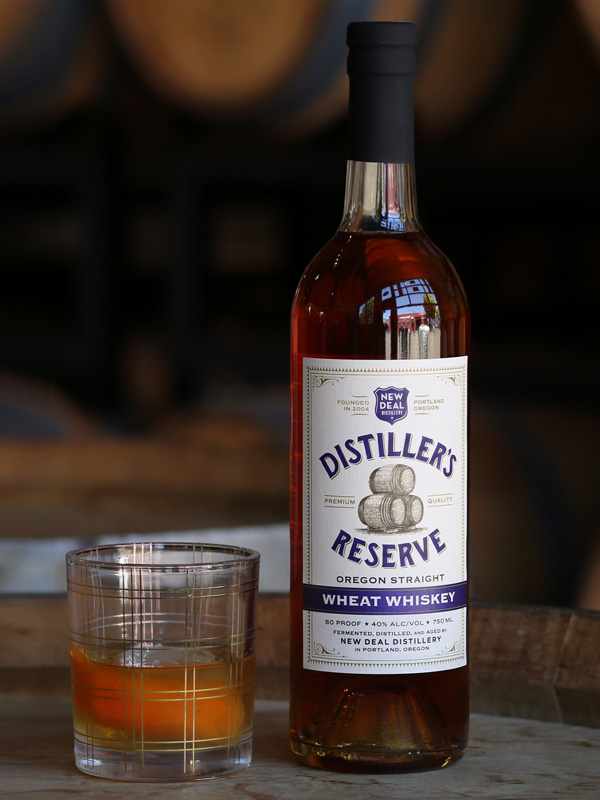Distiller's Reserve Wheat Whiskey Label Design