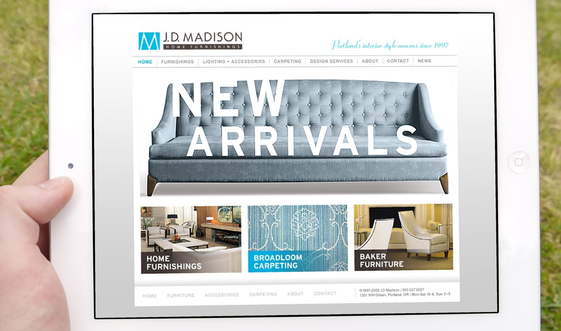 JD Madison Website Design