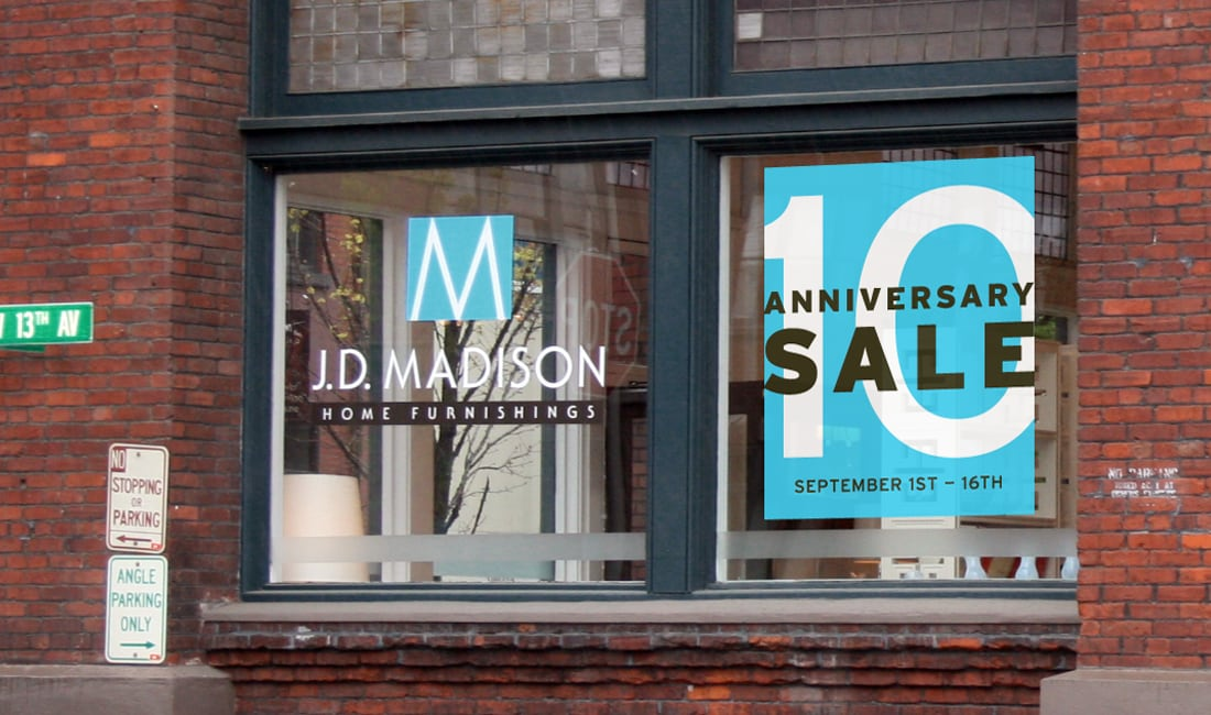 JD Madison Window Graphics Design