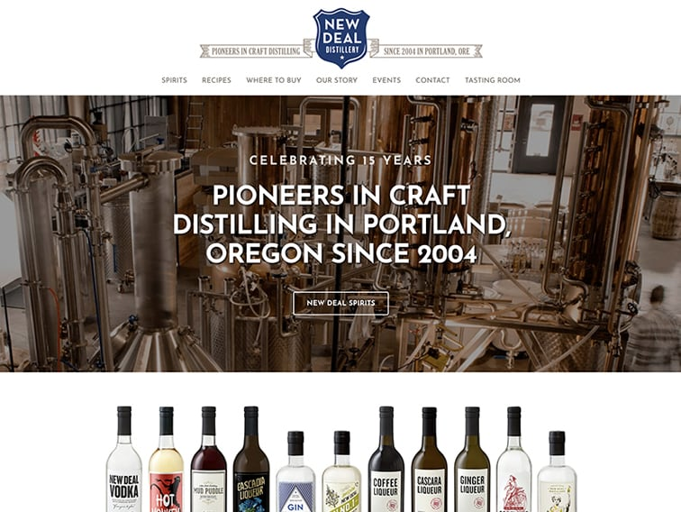 New Deal Distillery Wordpress Website