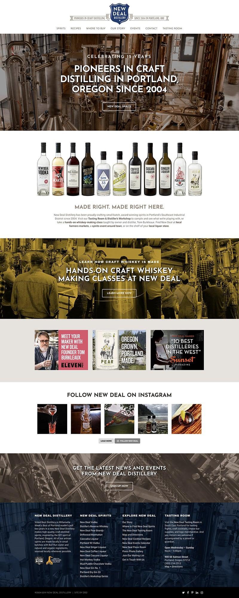 New Deal Distillery Website